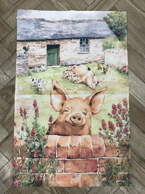 Pigs Cotton Tea Towel